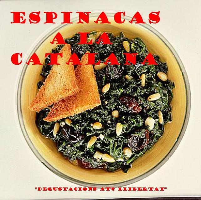 espinacas a la catalana