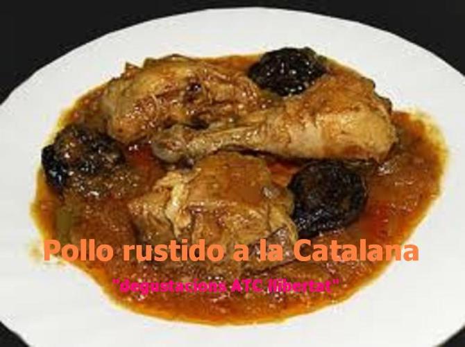 Pollo rustido a la catalana