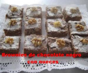 Brownies de chocolate negro con nueces