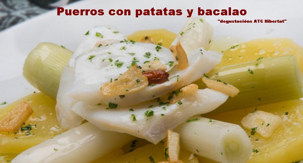 Puerros con patatas y bacalao degustacions atc - Bacalao con garbanzos y patatas ...