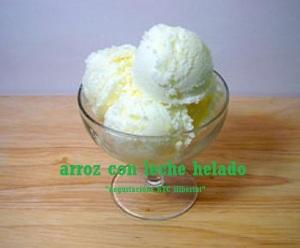 helado de arroz con leche
