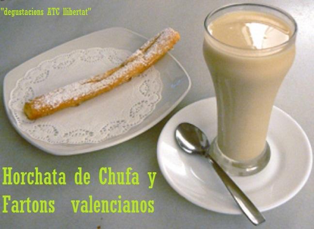horchata y fartons Valencianos