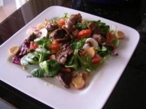 Ensalada de mollejas de pato