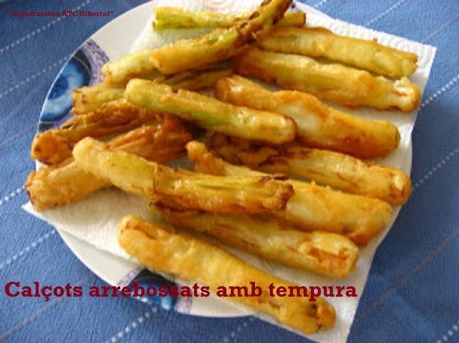 Calçots arrebossats amb tempura