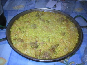 Paella de costillitas y col coliflor