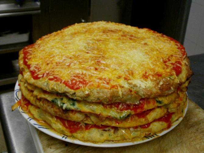 pastel de tortilla de verduras