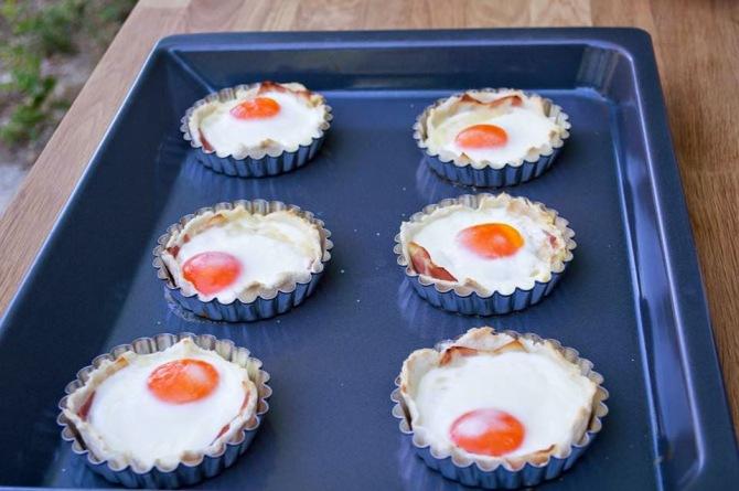 Tartaletas de Huevo y Bacon