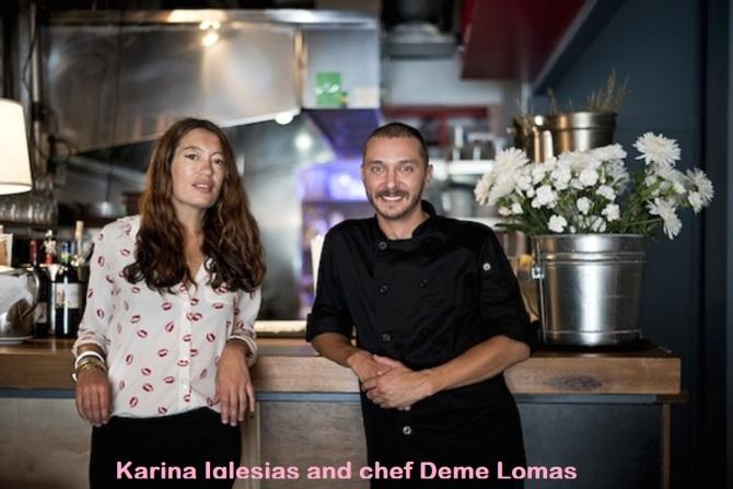 Karina Iglesias and chef Deme Lomas